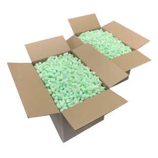 Flo-Pak Green 100 Liter Füllmaterial Polstermaterial Verpackungschips Styroporchips
